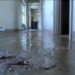 Sludge from water damage in home